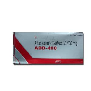 ABD 400 mg  - Albendazole - Intas Pharmaceuticals, India