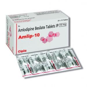 Amlip 10 mg  - Amlodipine - Cipla, India