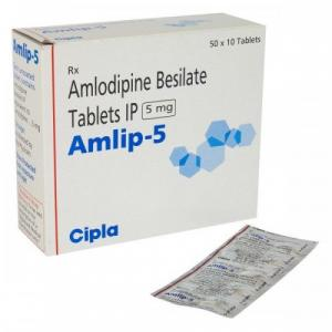 Amlip 5 mg  - Amlodipine - Cipla, India