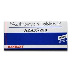 Azax 250 mg  - Azithromycin - Ranbaxy, India