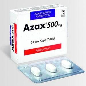 Azax 500 mg  - Azithromycin - Ranbaxy, India