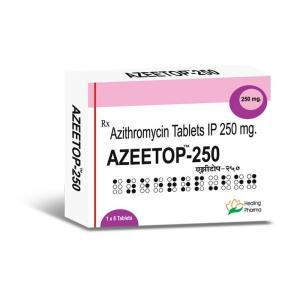 Azeetop 250 mg  - Azithromycin - Healing Pharma