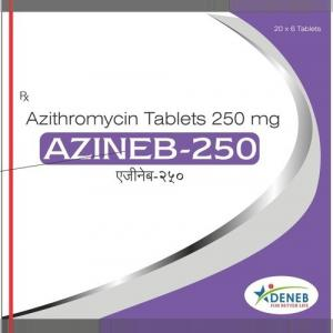Azineb 250 mg  - Azithromycin - Deneb Healthcare Pvt. Ltd.