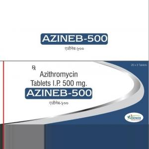 Azineb 500 mg  - Azithromycin - Deneb Healthcare Pvt. Ltd.