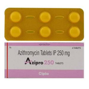 Azipro 250 mg  - Azithromycin - Cipla, India