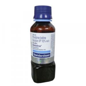 Betadine Solution 100 ml bottle 10 %  - Povidone-Iodine - Win-Medicare