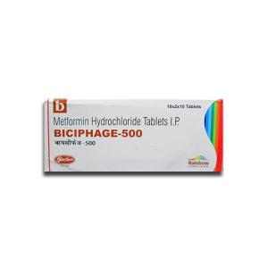 Biciphage SR 500 mg  - Metformin - Skymap Pharmaceuticals Pvt. Ltd.