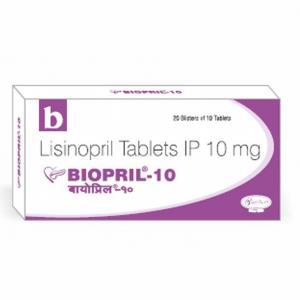 Biopril 10 mg  - Lisinopril - Biochem Pharmaceutical Industries Ltd.