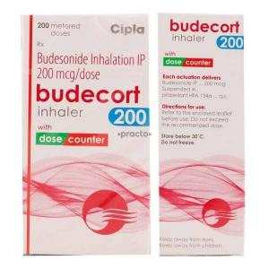 Budecort Inhaler 200 mcg - Budesonide - Cipla, India
