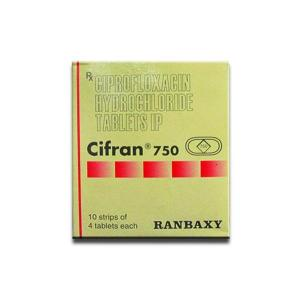 Cifran 750 mg - Ciprofloxacin - Ranbaxy, India
