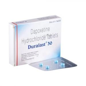 Duralast 30 mg - Dapoxetine - Sun Pharma, India