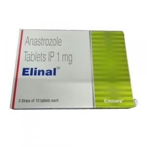Elinal 1 mg  - Anastrozole - Emcure Pharmaceuticals Ltd.
