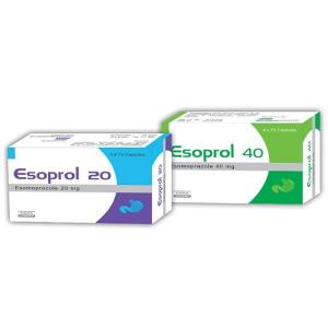 Esoprol 20 mg  - Esomeprazole - Johnlee Pharmaceutical Pvt. Ltd.