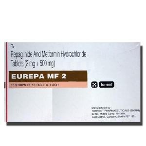 Eurepa MF 2/ 500 mg  - Repaglinide - Torrent Pharma