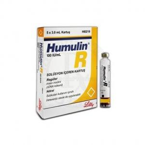 Humulin R - Insulin - Lilly, Turkey