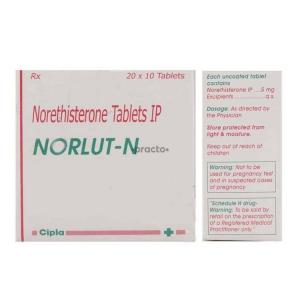 Norlut-N 5 mg  - Norethisterone - Cipla, India